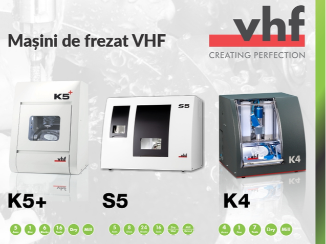 Top 3 milling machines from VHF